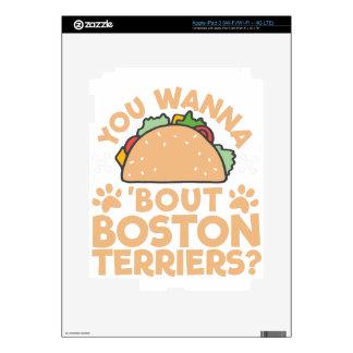 You Wanna Taco Bout Boston Terriers? iPad 3 Skin