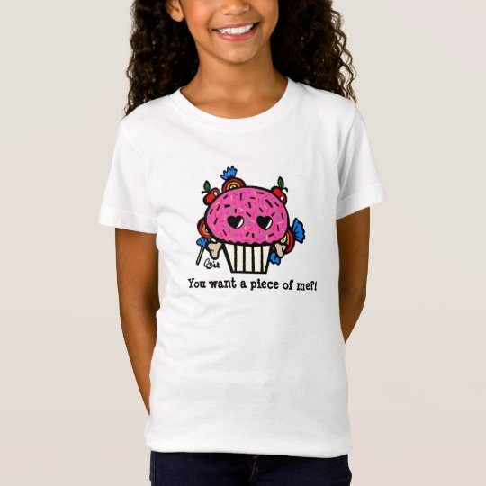 You want a piece of me?! Evil Cupcake T-Shirt