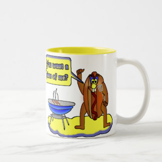 You want a piece of me? Two-Tone coffee mug