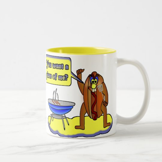 You want a piece of me? Two-Tone coffee mug
