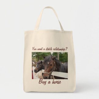 You Want a Stable Relationship? Buy a Horse Tote Bag