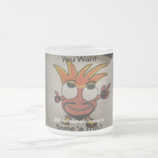 You Want... 10 Oz Frosted Glass Coffee Mug