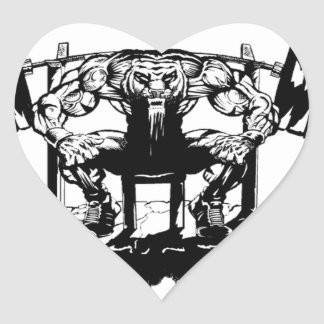 YOU WANT TO BE BIG lift and gym Heart Sticker