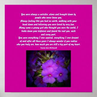 You were always ...Floral Poem Poster