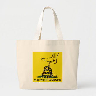 You Were Warned Rattle Snake Flag Bags