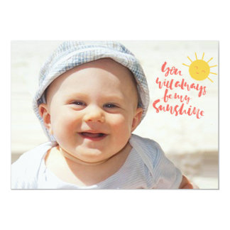 You Will Always Be My Sunshine Photo Invitation