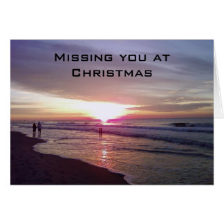 YOU WILL BE MISSED AT CHRISTMAS-SUNRISE BEACH CARD