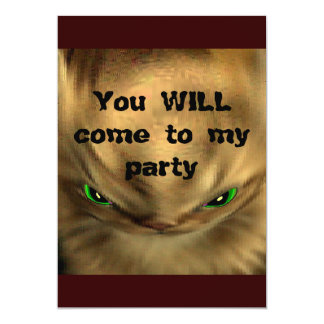 You WILL come to my party!! Card