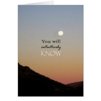 You Will Intuitively Know Greeting Cards