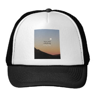 You Will Intuitively Know Hats