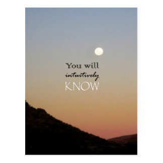 You Will Intuitively Know Postcard