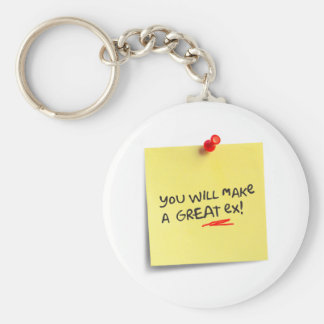 You will make a great EX! Basic Round Button Keychain