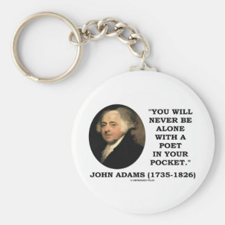 You Will Never Be Alone With A Poet In Your Pocket Keychain