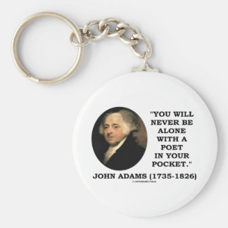 You Will Never Be Alone With A Poet In Your Pocket Keychains