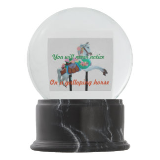 YOU WILL NEVER NOTICE CAROUSEL HOIRSE SNOW GLOBE