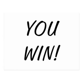You Win Nothing Postcard