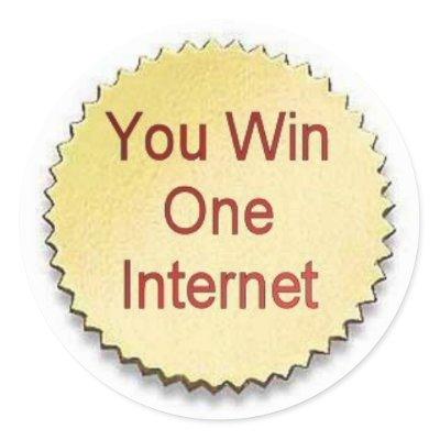 you win a internet