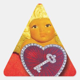 You Won My Heart Valentine Triangle Sticker