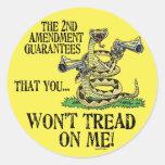 You Won't Tread on Me Classic Round Sticker