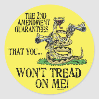 You Won't Tread on Me Classic Round Sticker