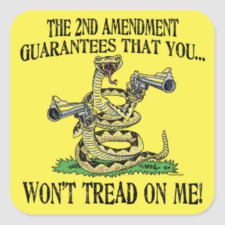 You Won't Tread on Me Square Sticker