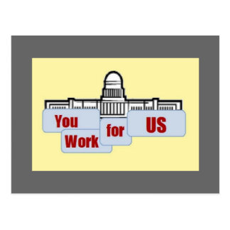 You Work for US Postcard