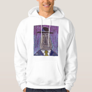 You would be grumpy if you looked like this hooded pullover