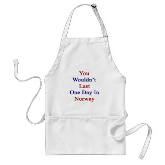 You Wouldn't Last One Day In Norway Adult Apron
