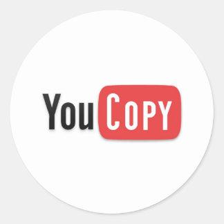 YouCopy Classic Round Sticker