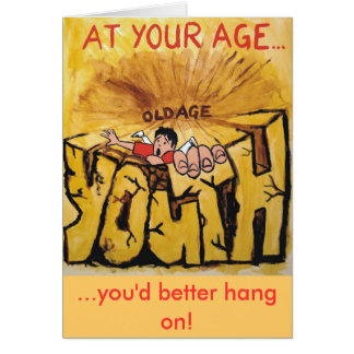 You'd better hang on! greeting card