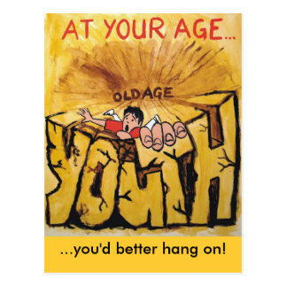 You'd better hang on! postcard