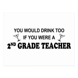 You'd Drink Too - 2nd Grade Postcard