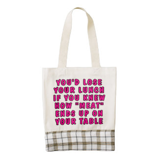 You'd lose your lunch if you knew how meat... zazzle HEART tote bag
