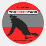 "youfreedtaos 3"" sticker"