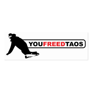 youfreedtaos skinny Double-Sided mini business cards (Pack of 20)