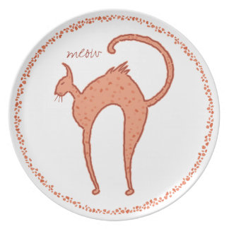 Youko Meow Cat Dinner Plate
