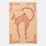 Youko Meow Cat Hand Towel