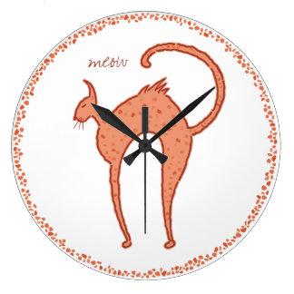 Youko Meow Cat large Large Clock