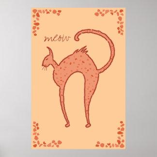 Youko meow Cat Poster