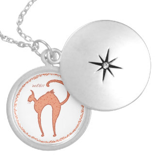 Youko Meow Cat Silver Plated Necklace