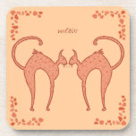 Youko Meow Cats Drink Coaster