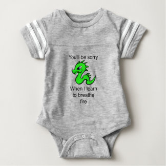 Youll be sorry - baby dragon baby bodysuit