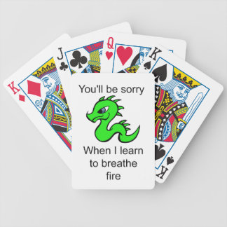 Youll be sorry - baby dragon bicycle playing cards