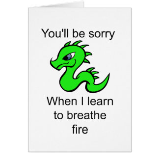 Youll be sorry - baby dragon card