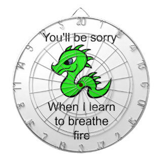 Youll be sorry - baby dragon dart board