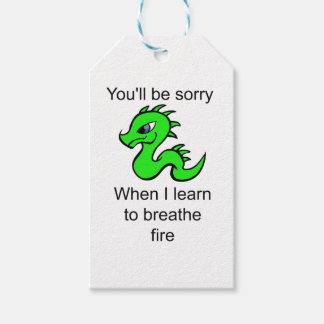 Youll be sorry - baby dragon gift tags