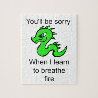 Youll be sorry - baby dragon jigsaw puzzle