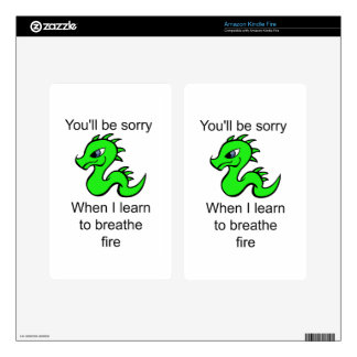 Youll be sorry - baby dragon kindle fire decals