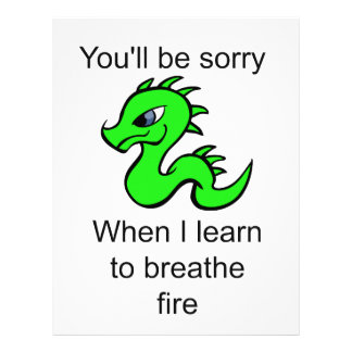 Youll be sorry - baby dragon letterhead