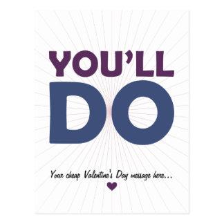 You'll Do Postcard